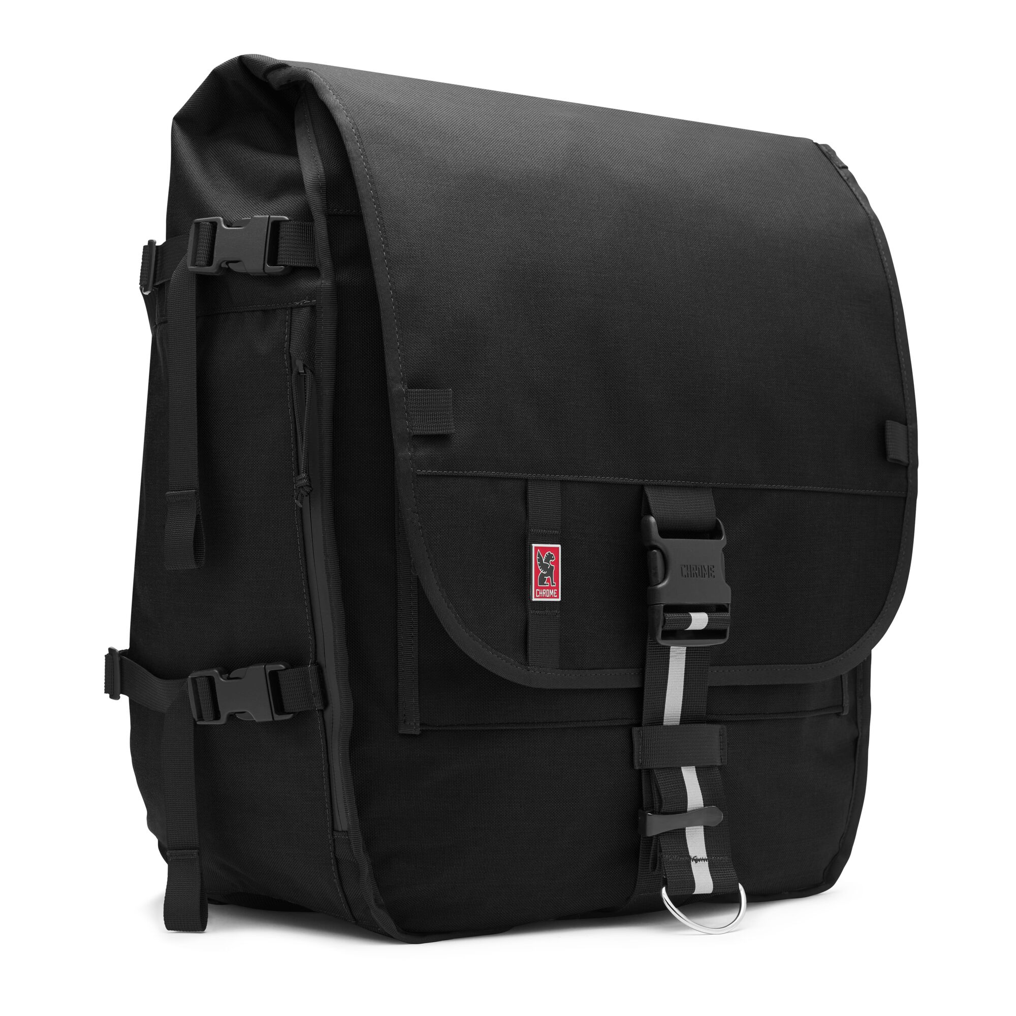 Warsaw Ii Messenger Backpack In Black Small View