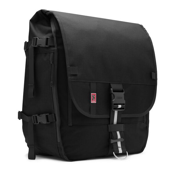 Warsaw II Messenger Backpack in Black - medium view.