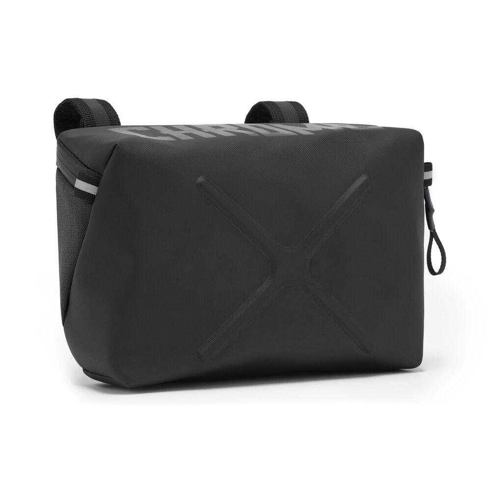 Helix Handlebar Bag in Black - large view.