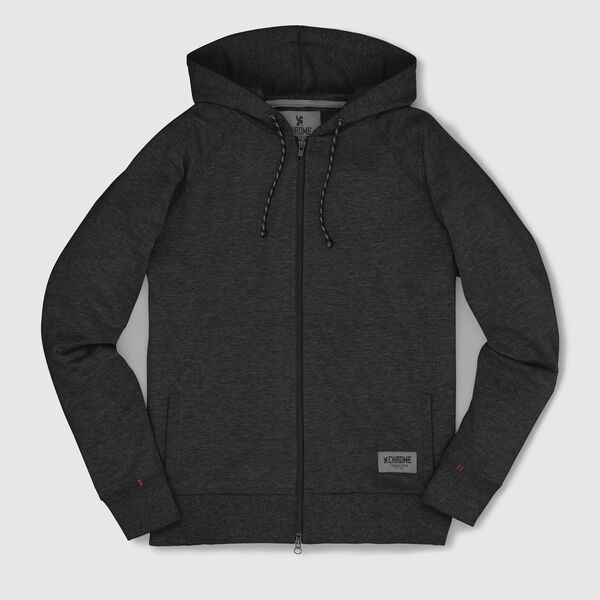 Hawthorne Zip Hoodie in Black - medium view.