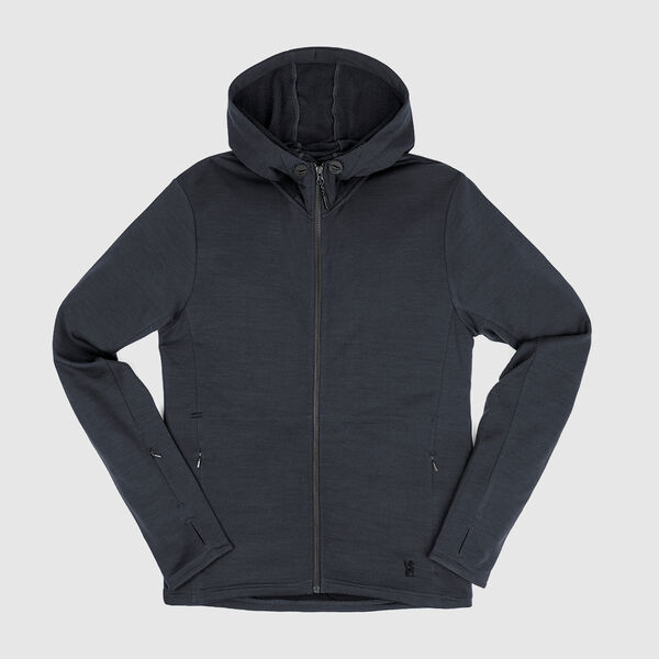 Merino Wool Cobra Hoodie in Dark Shadow - medium view.