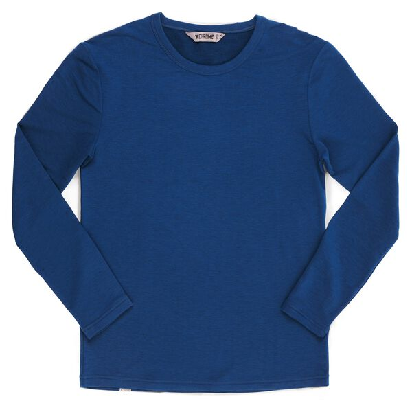 Merino Long Sleeve Tee in Poseiden - medium view.