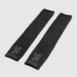 Merino Arm Warmers in Black / Black - small view.
