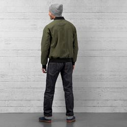 Utility Bomber Jacket in Olive - wide-hi-res view.