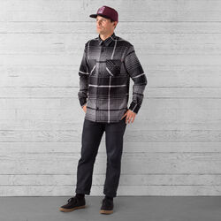 Woven Workshirt in Charcoal / Black Plaid - wide-hi-res view.