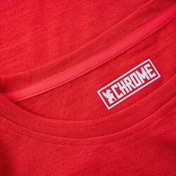 Women's Merino Square Long Sleeve Tee in Poppy - hi-res view.