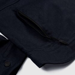 Blake Cycling Trucker Jacket in Midnight - hi-res view.