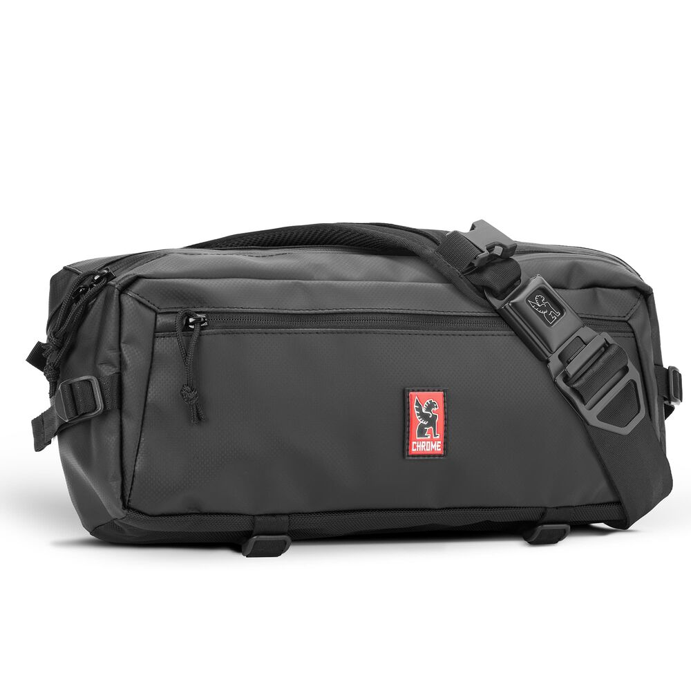Kadet Tarp Sling Bag in Asphalt / Aluminum - hi-res view.