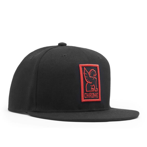 Baseball Cap in Black / Red - medium view.