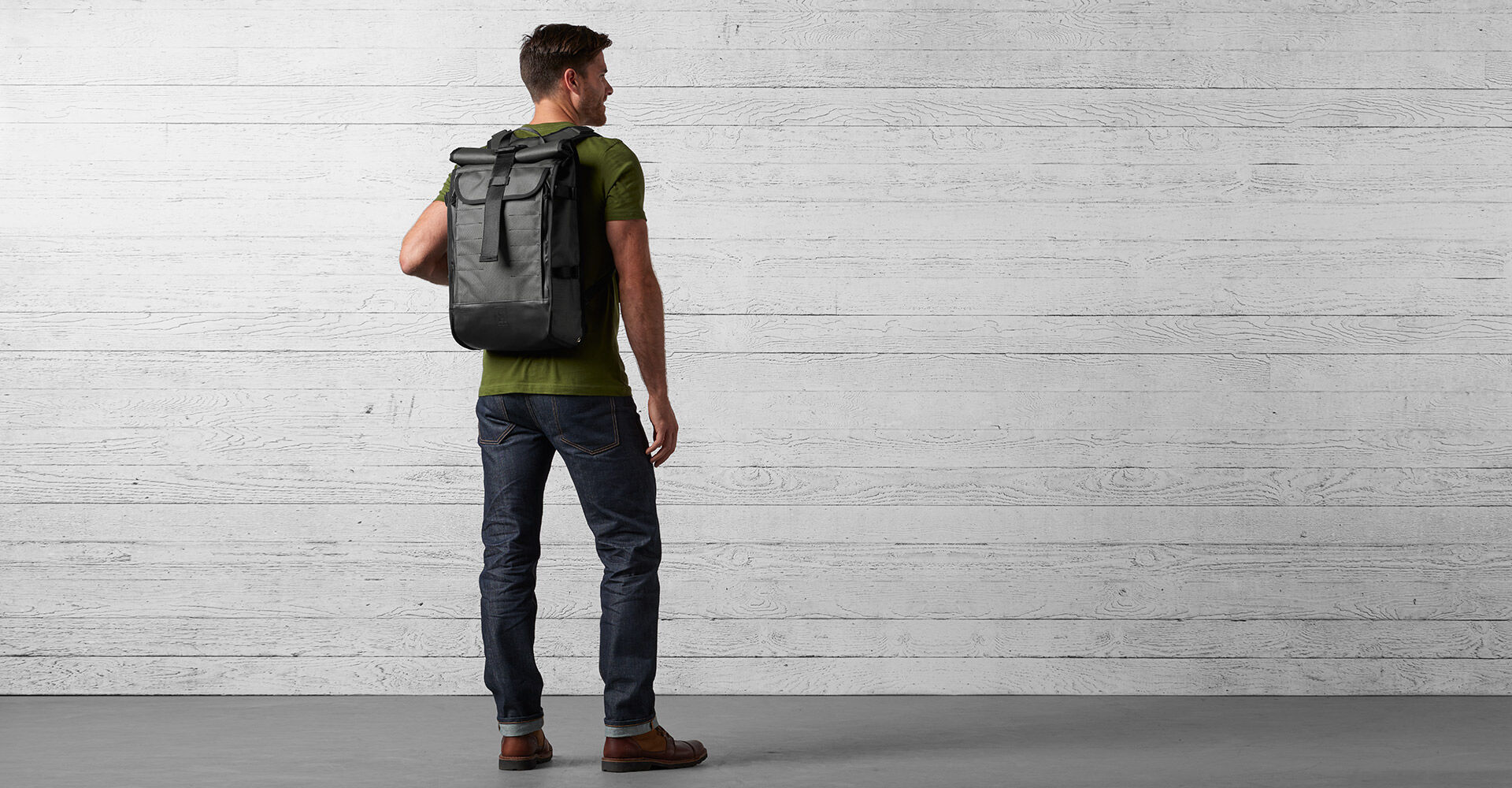 Moto Barrage Pocket Backpack in Moto - wide view.