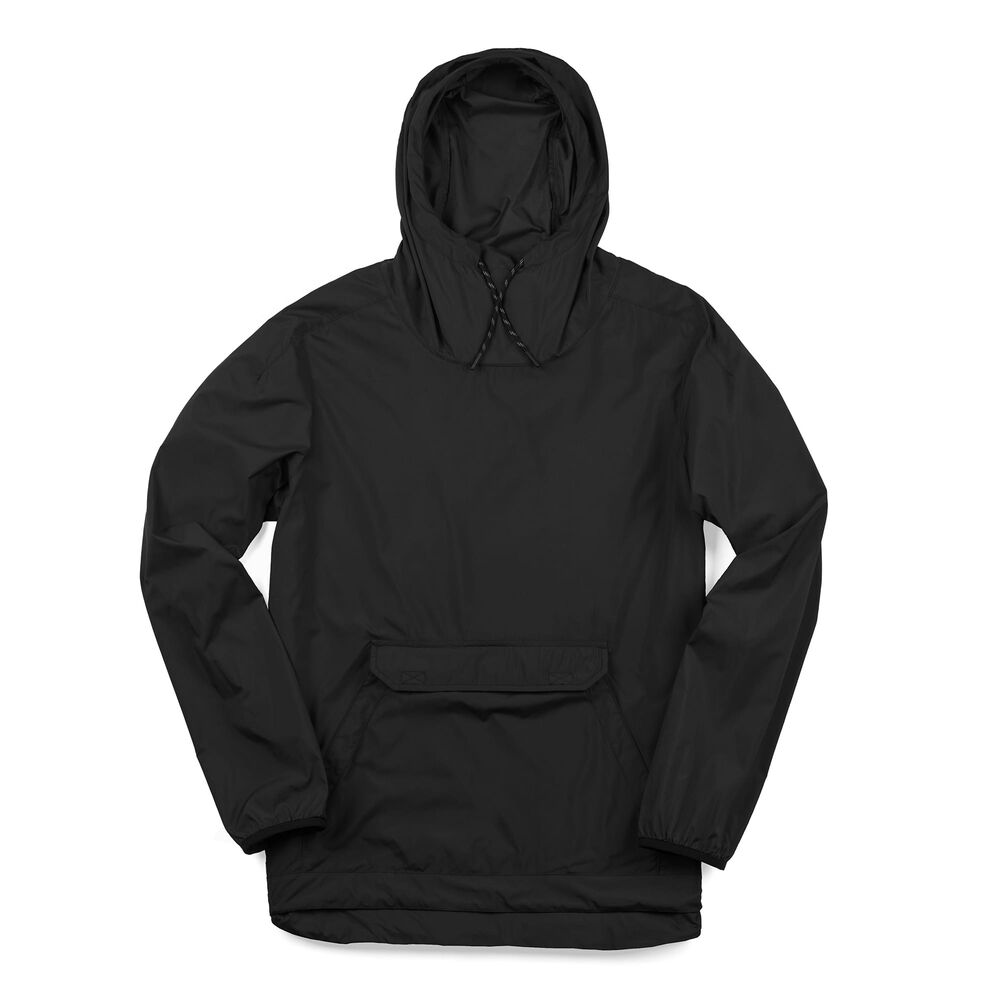 Packable Buckman Anorak in Black - large view.