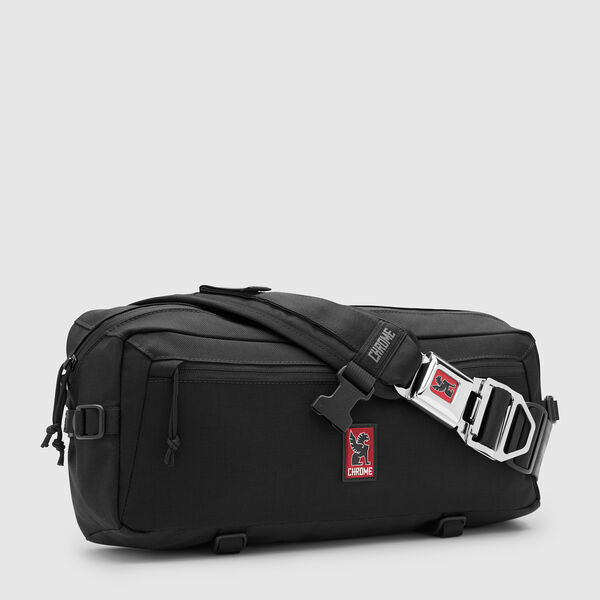 Kadet Nylon Messenger Bag in Black - medium view.