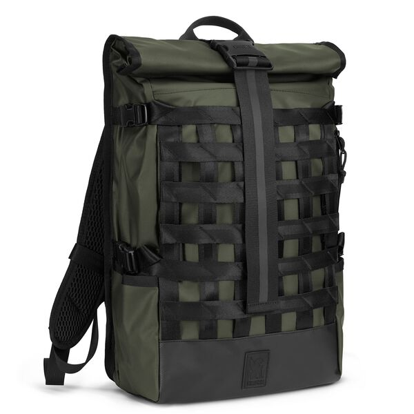 Barrage Cargo Backpack in Olive Tarp - hi-res view.