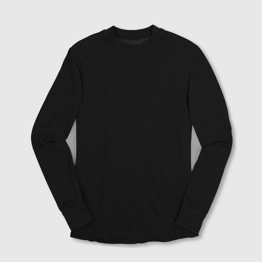Merino Wool Crewneck Long Sleeve Shirt