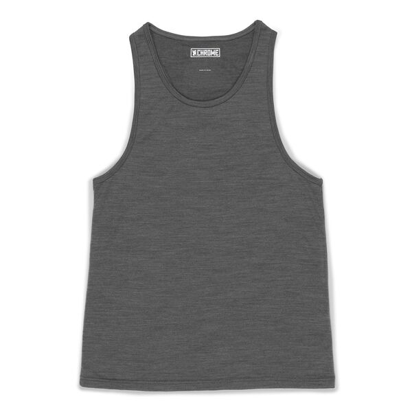 Women's Merino Tank Top in Charcoal  - hi-res view.