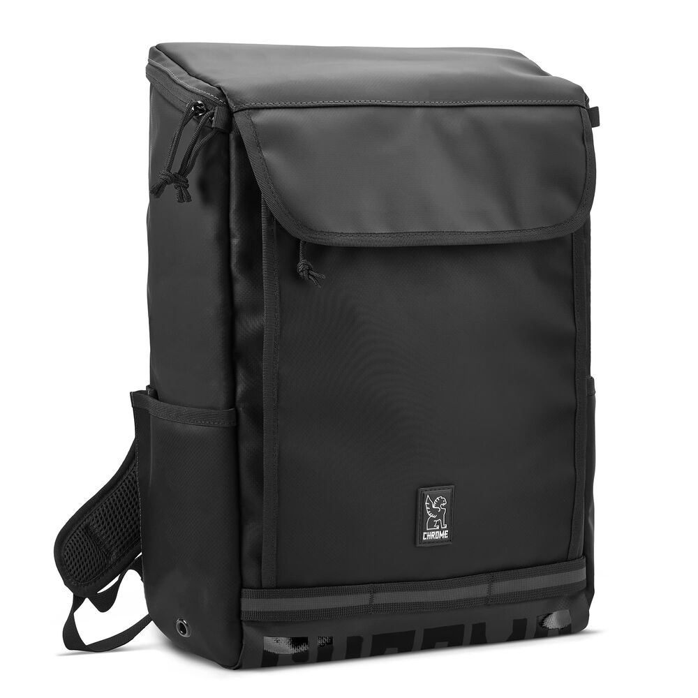 Volcan Backpack in Black / Black Print - hi-res view.