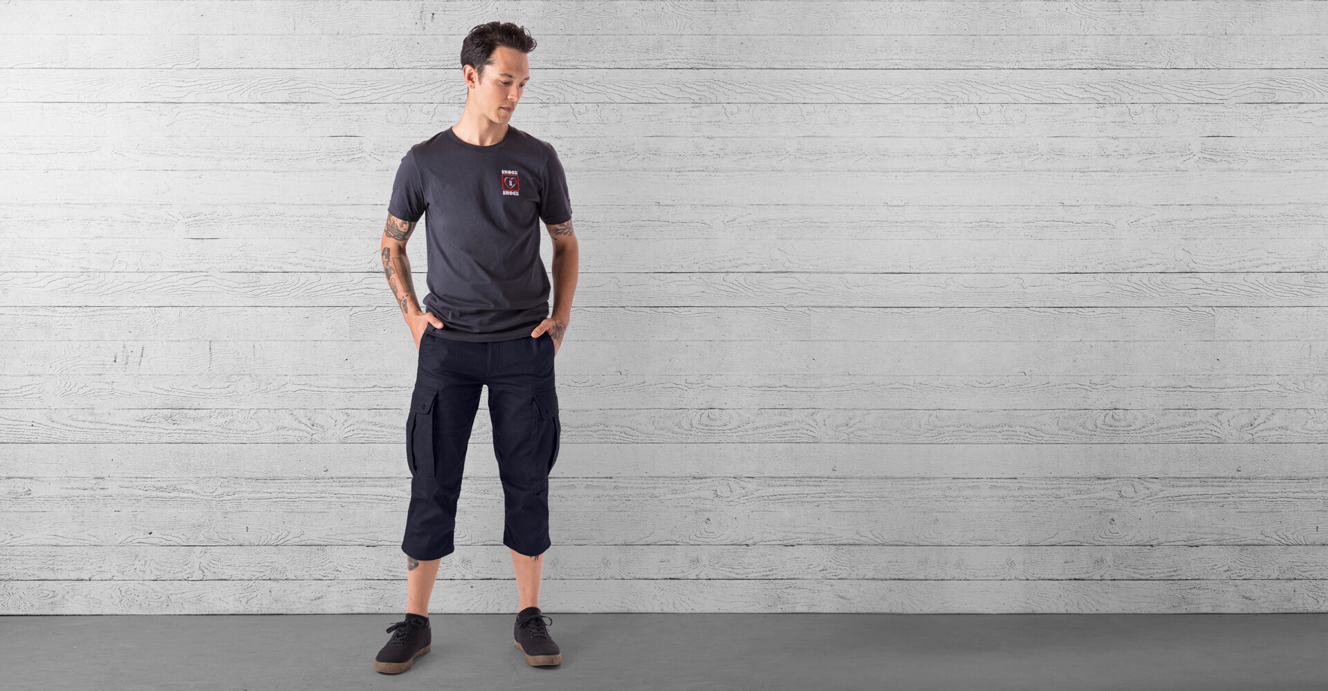 Blake Cycling Knicker Pant in Midnight - wide view.