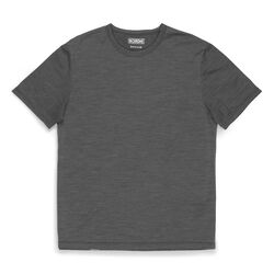 Merino Short Sleeve Tee in Charcoal  - hi-res view.