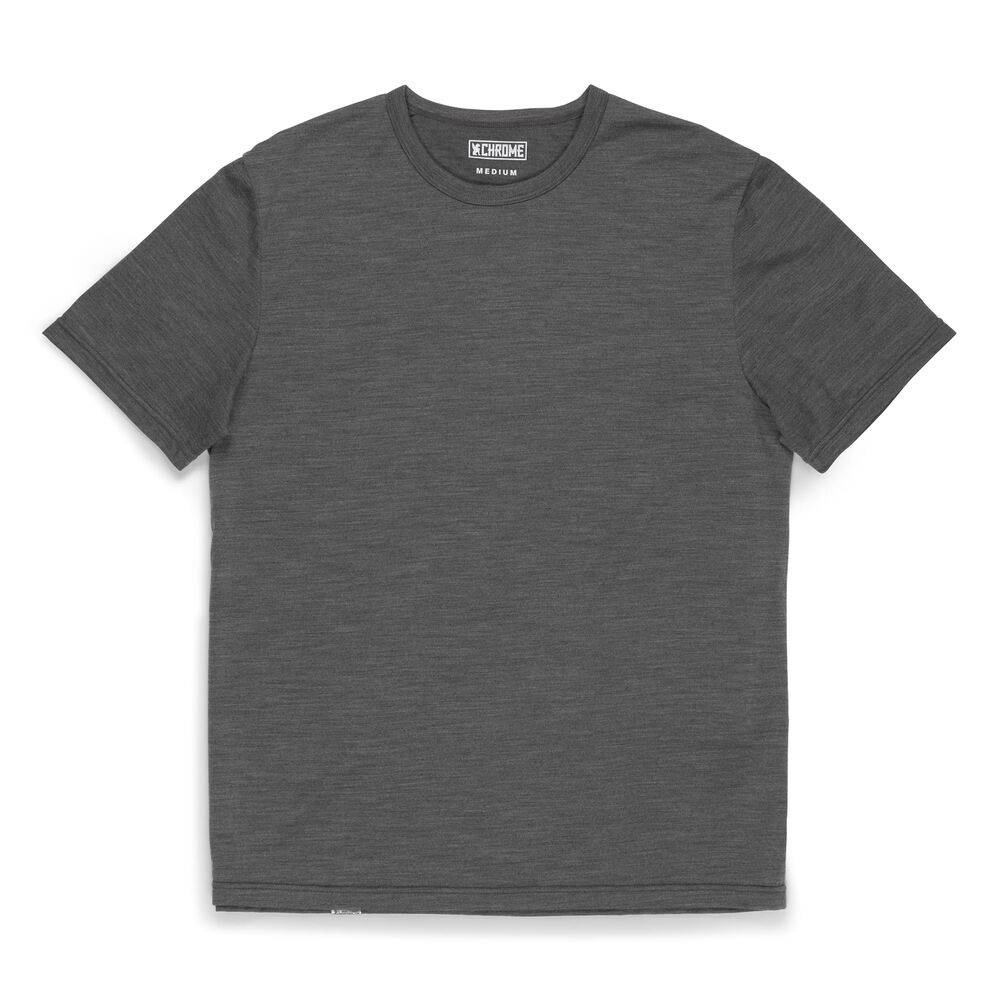 Merino Short Sleeve Tee in Charcoal  - large view.