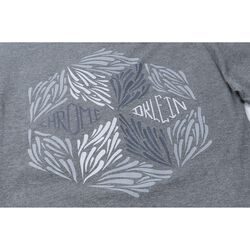DKlein Long Sleeve Tee in Deep Heather Grey - large view.