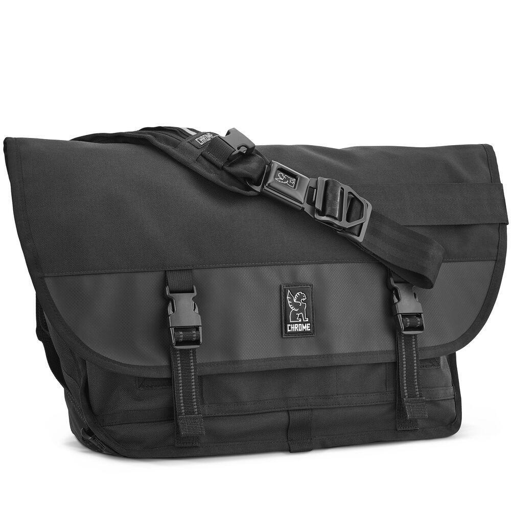 Citizen Messenger Bag in All Black - hi-res view.