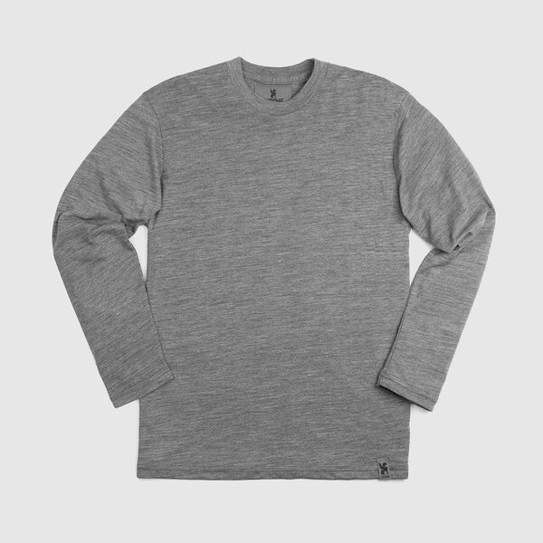Delancey Merino Long Sleeve Tee in Charcoal - medium view.