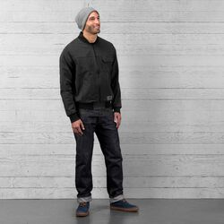 Utility Bomber Jacket in Black - wide-hi-res view.