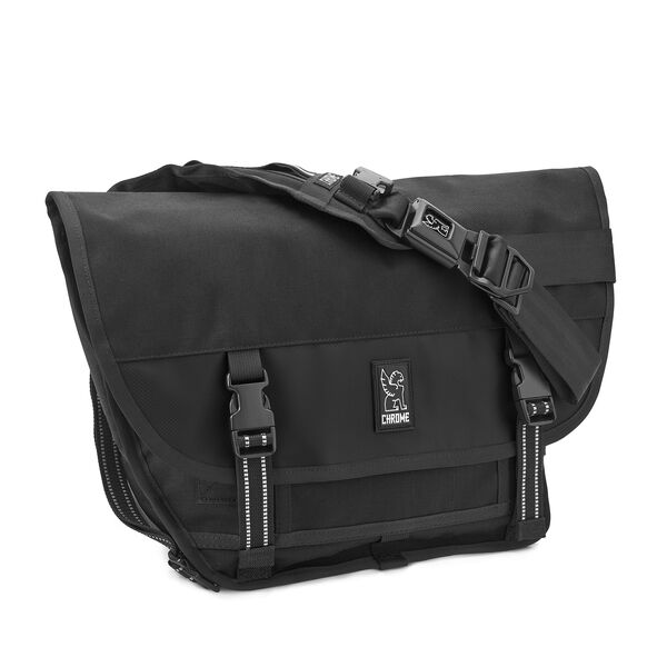Mini Metro Messenger Bag in All Black - medium view.