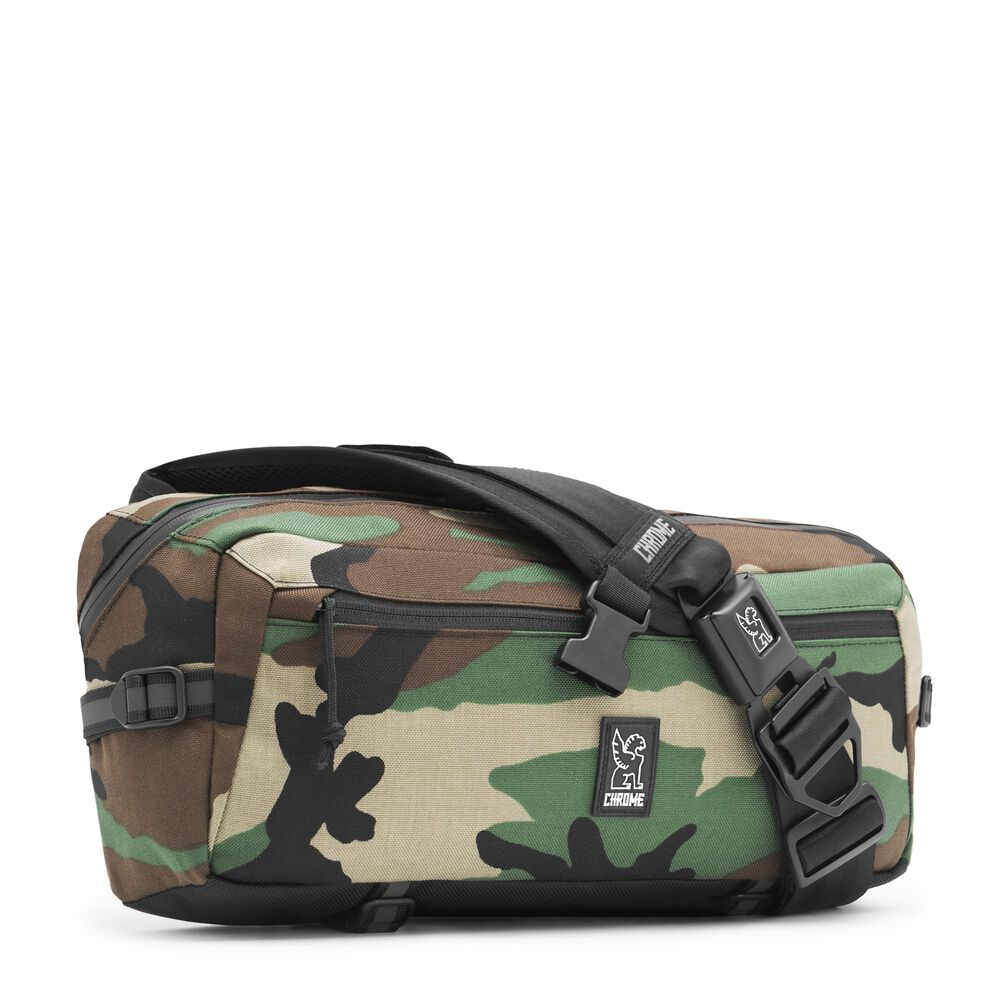 Kadet Nylon Messenger Bag in Camo - large view.