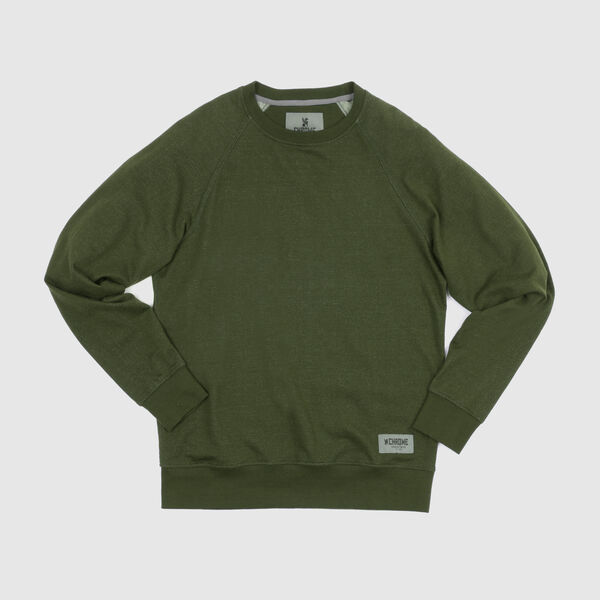 Hawthorne Crew Sweatshirt in Olive - medium view.
