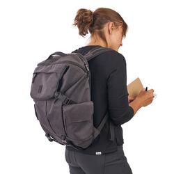 Pike Backpack in Grey - hi-res view.