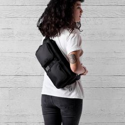 MXD Segment Sling Bag in All Black - large view.