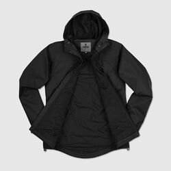 Skyline Windcheater Jacket in Black - small view.