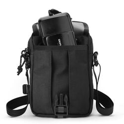Shoulder Accessory Pouch in Black - hi-res view.