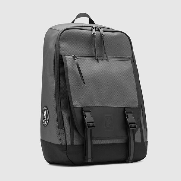 Cardiel Moto Fortnight Backpack in Grey - medium view.