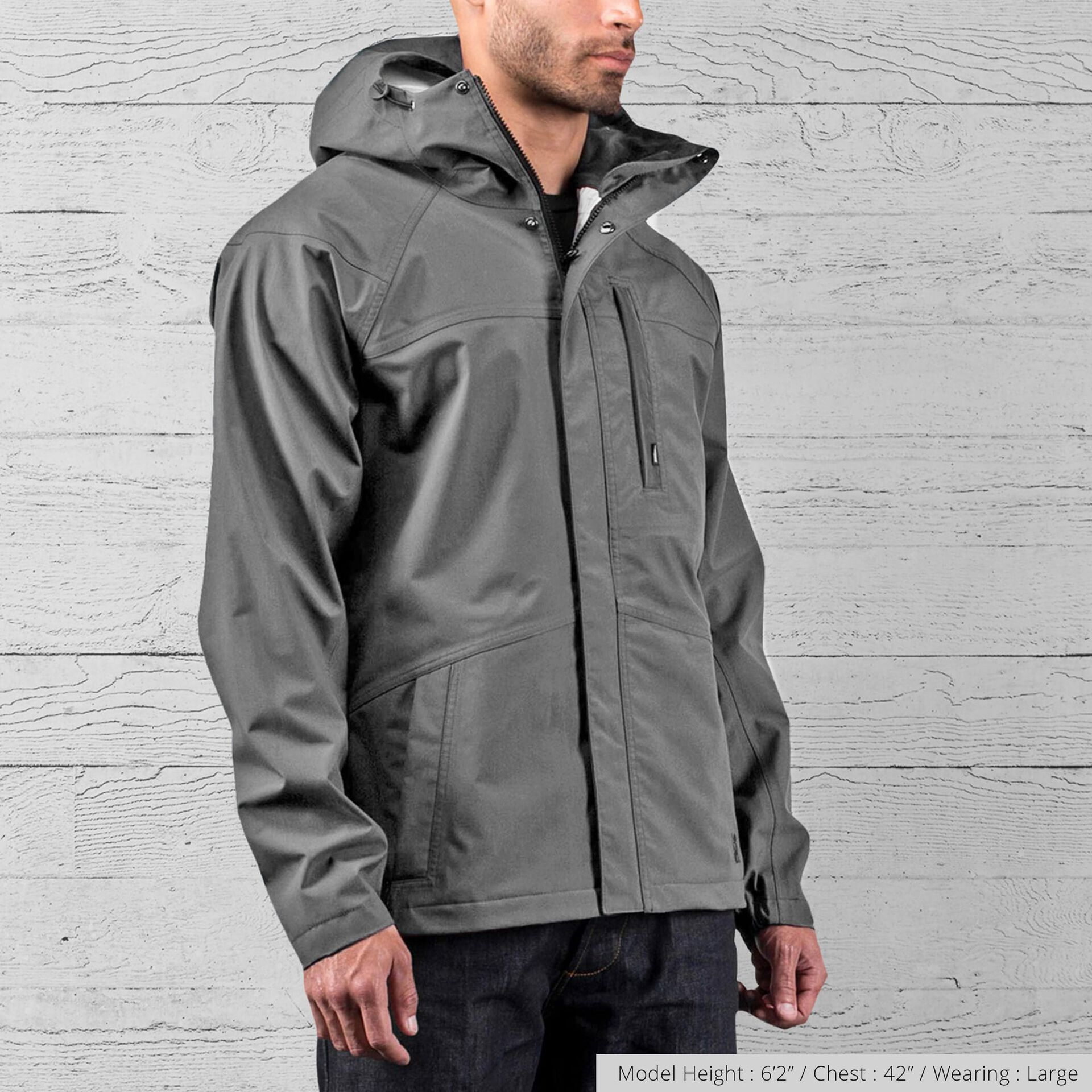 Storm Cobra 2.0 Jacket in Gargoyle Grey - wide view.