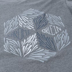 DKlein Short Sleeve Tee in Deep Heather Grey - small view.