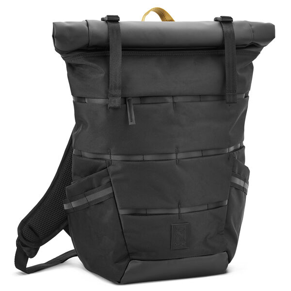 Mazer Ensign Rolltop Pack in Black - hi-res view.