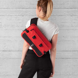 Urban Ex 10L Sling Bag in Red / Black - large view.