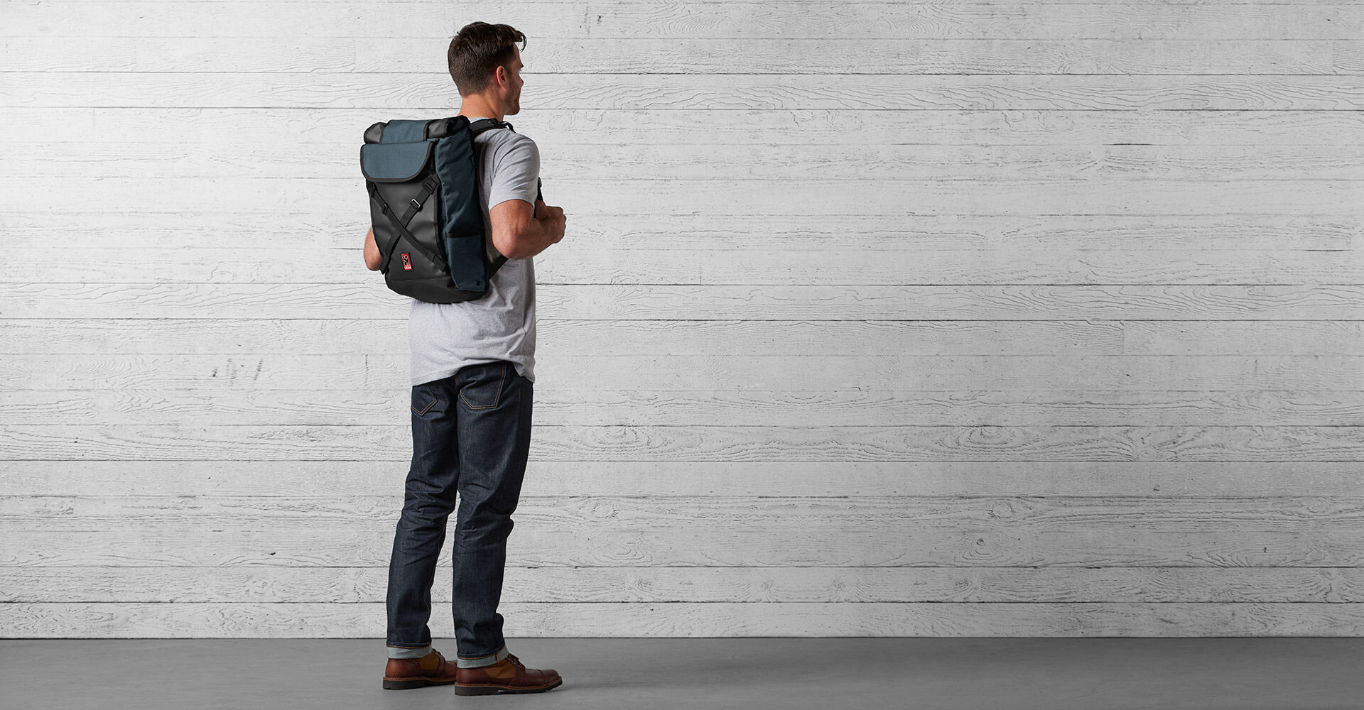 Bravo 2.0 Backpack in Indigo - wide view.