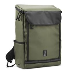 Volcan Backpack in Olive Leaf / Black Tarp - hi-res view.