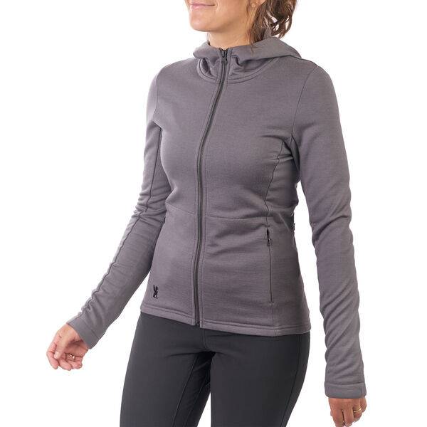 Women's Merino Cobra Hoodie 2.0 in Castle Rock - hi-res view.