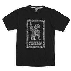 Chrome X Squid Bikes Tee in Black / White Graphic - hi-res view.
