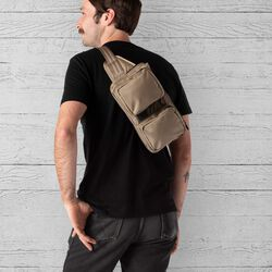 MXD Notch Sling Bag in Dune - hi-res view.
