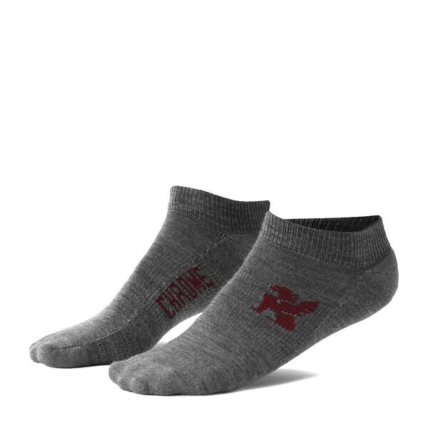 No Show Merino Socks in Grey - hi-res view.