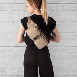 MXD Notch Sling Bag in Dune - large view.