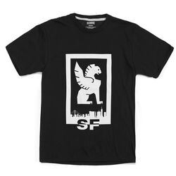 San Francisco Hub Tee in Black / White Graphic - hi-res view.