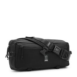 Kadet Nylon Messenger Bag in All Black - small view.