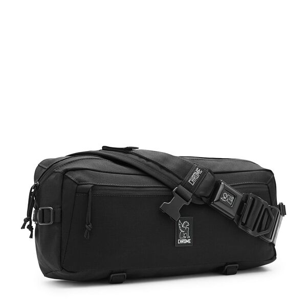 Kadet Nylon Messenger Bag in All Black - medium view.