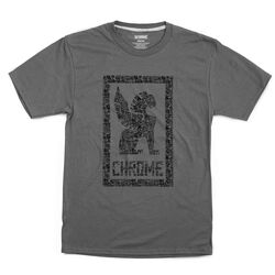 Chrome X Squid Bikes Tee in Charcoal / Black Graphic - hi-res view.